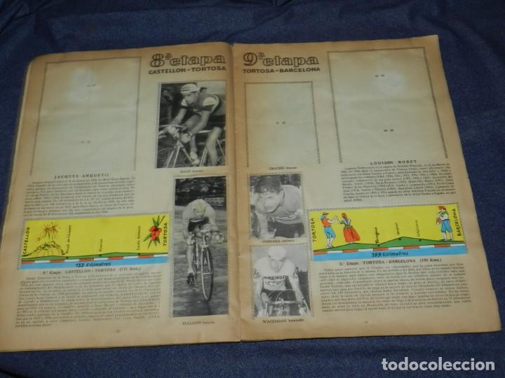 Coleccionismo deportivo: ALBUM VUELTA CICLISTA A ESPAÑA 1959 EDT FHER, CONTIENE 126 CROMOS DE 201, SEÑALES DE USO - Foto 5 - 216552988