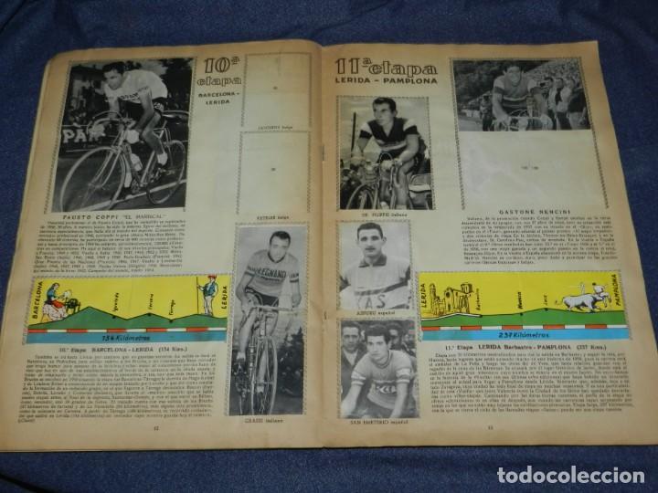 Coleccionismo deportivo: ALBUM VUELTA CICLISTA A ESPAÑA 1959 EDT FHER, CONTIENE 126 CROMOS DE 201, SEÑALES DE USO - Foto 6 - 216552988