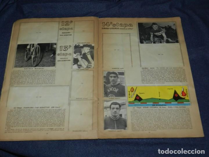 Coleccionismo deportivo: ALBUM VUELTA CICLISTA A ESPAÑA 1959 EDT FHER, CONTIENE 126 CROMOS DE 201, SEÑALES DE USO - Foto 7 - 216552988