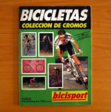 Coleccionismo deportivo: ÁLBUM BICICLETAS -EDICIONES CUSCÓ 1991- BICISPORT -COMPLETO -CON PÓSTER CENTRAL PEDRO DELGADO-PERICO. Lote 217074250