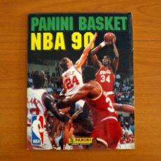Coleccionismo deportivo: ÁLBUM BASKET NBA 90, 1990 - EDITORIAL PANINI - COMPLETO - CON LOS DOS CROMOS DE MICHAEL JORDAN. Lote 217077658