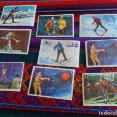 Coleccionismo deportivo: CROMO EL DEPORTE VISTO POR SUS ASES 15 13 10 14 1 12 16 12 17 REGALO LOS JUEGOS OLÍMPICOS 142 245.. Lote 219083445