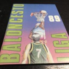 Coleccionismo deportivo: ÁLBUM BALONCESTO LIGA 89 (IMPECABLE VER FOTOS ). Lote 219133867