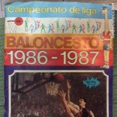 Coleccionismo deportivo: ÁLBUM CAMPEONATO DE LIGA DE BALONCESTO 1986,1987 COMPLETO. Lote 219237560