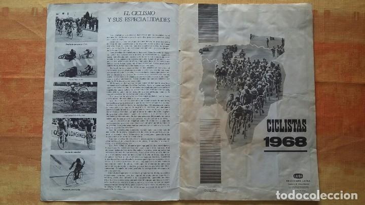 Coleccionismo deportivo: CICLISTAS 1968 EDICIONES LAIDA ALBÚM COMPLETO - Foto 2 - 219844903