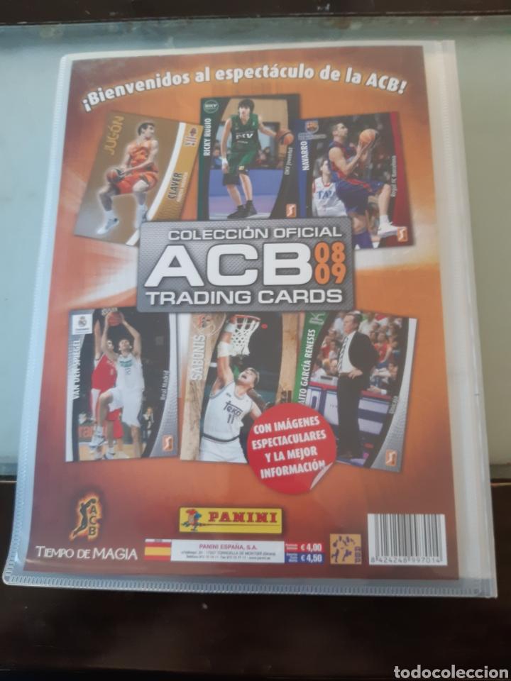 Coleccionismo deportivo: ALBUM ARCHIVADOR TRADING CARDS BALONCESTO BASKET ACB 2008 2009 08 09 COMPLETA EXCELENTE ESTADO - Foto 2 - 222623271