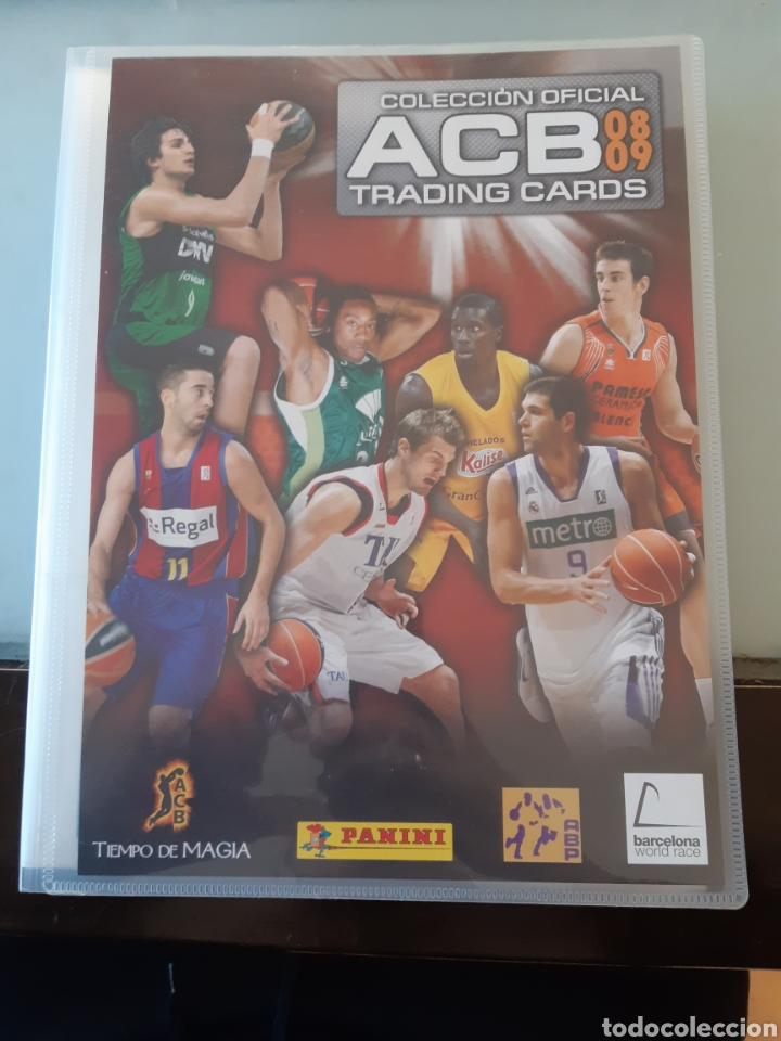 ALBUM ARCHIVADOR TRADING CARDS BALONCESTO BASKET ACB 2008 2009 08 09 COMPLETA EXCELENTE ESTADO (Coleccionismo Deportivo - Álbumes otros Deportes)