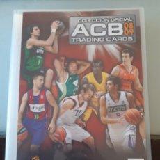 Coleccionismo deportivo: ALBUM ARCHIVADOR TRADING CARDS BALONCESTO BASKET ACB 2008 2009 08 09 COMPLETA EXCELENTE ESTADO. Lote 222623271