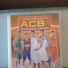 Coleccionismo deportivo: ALBUM ARCHIVADOR TRADING CARDS BALONCESTO BASKET ACB 2010 2011 10 11 COMPLETA EXCELENTE ESTADO. Lote 222623893