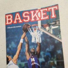 Coleccionismo deportivo: BASKET, ÁLBUM DE CROMOS VACIO, BOLLYCAO ( PLANCHA ). Lote 222717422