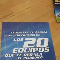 Coleccionismo deportivo: LA RAZON ALBUM 20 EQUIPOS ESTE 03 04 2004 2003. Lote 223021652