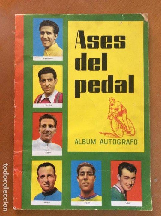 ÁLBUM ASES DEL PEDAL - ALBUM AUTÓGRAFO - 1960 - LEER DESCRIPCIÓN. (Coleccionismo Deportivo - Álbumes otros Deportes)