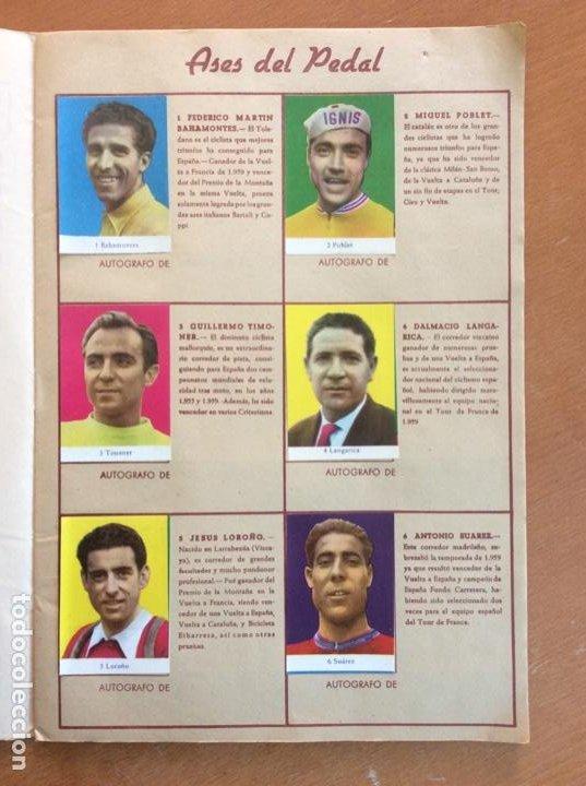 Coleccionismo deportivo: Álbum Ases del Pedal - Album Autógrafo - 1960 - leer descripción. - Foto 2 - 225754495