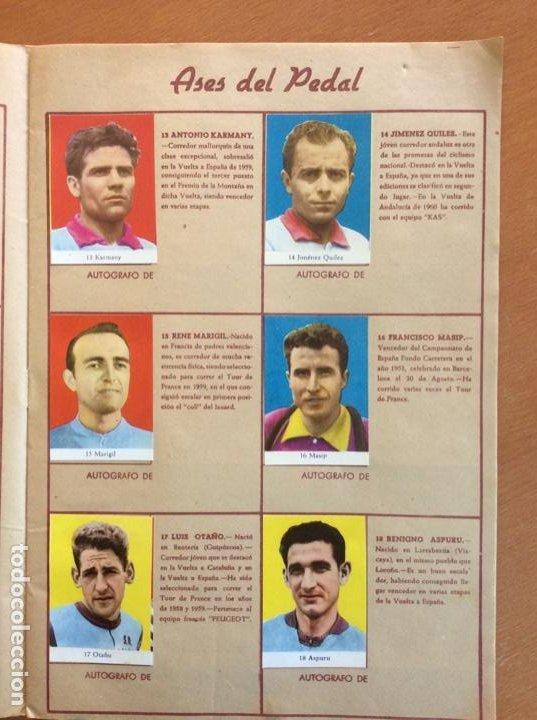 Coleccionismo deportivo: Álbum Ases del Pedal - Album Autógrafo - 1960 - leer descripción. - Foto 4 - 225754495