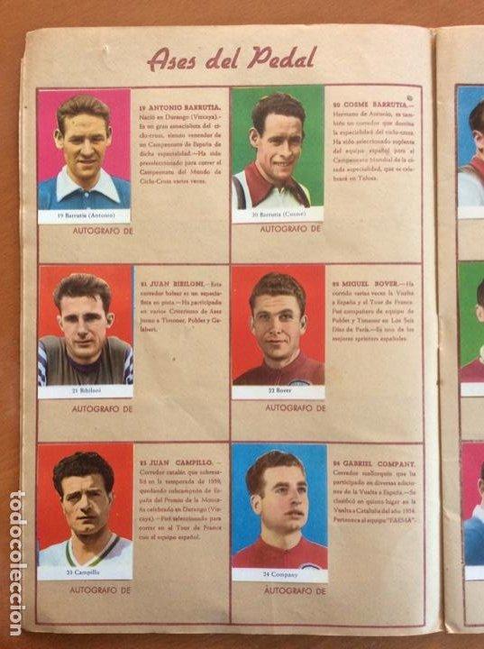 Coleccionismo deportivo: Álbum Ases del Pedal - Album Autógrafo - 1960 - leer descripción. - Foto 5 - 225754495