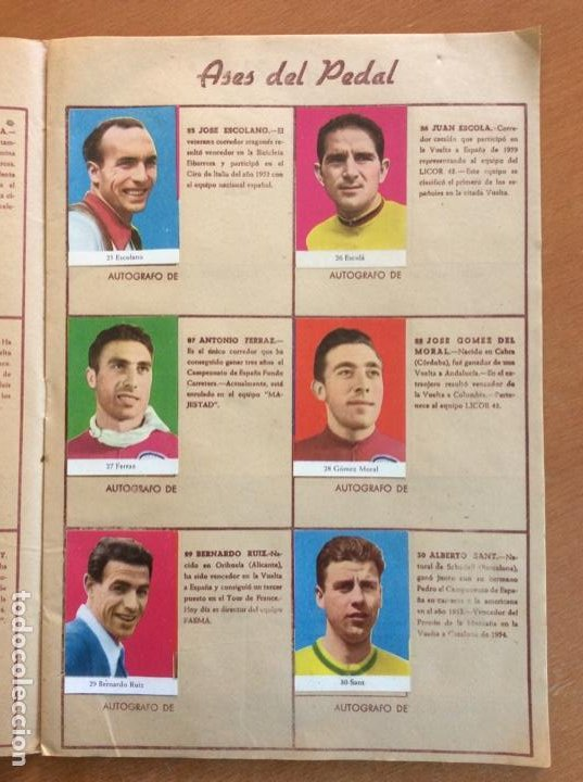 Coleccionismo deportivo: Álbum Ases del Pedal - Album Autógrafo - 1960 - leer descripción. - Foto 6 - 225754495