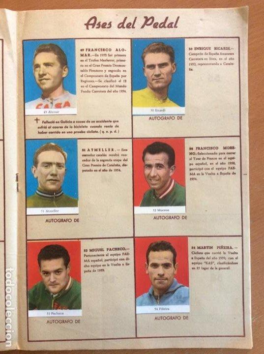 Coleccionismo deportivo: Álbum Ases del Pedal - Album Autógrafo - 1960 - leer descripción. - Foto 10 - 225754495