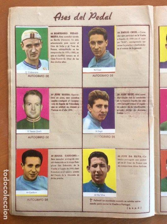 Coleccionismo deportivo: Álbum Ases del Pedal - Album Autógrafo - 1960 - leer descripción. - Foto 11 - 225754495