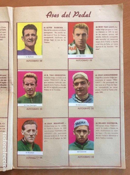 Coleccionismo deportivo: Álbum Ases del Pedal - Album Autógrafo - 1960 - leer descripción. - Foto 12 - 225754495