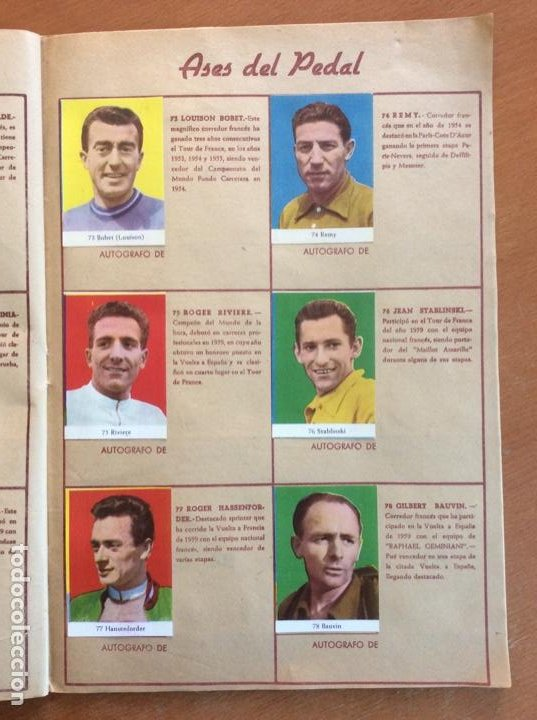 Coleccionismo deportivo: Álbum Ases del Pedal - Album Autógrafo - 1960 - leer descripción. - Foto 14 - 225754495