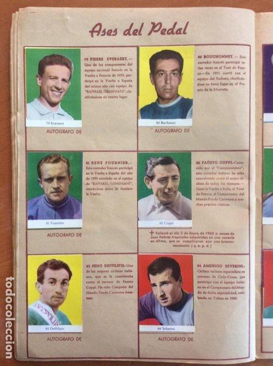 Coleccionismo deportivo: Álbum Ases del Pedal - Album Autógrafo - 1960 - leer descripción. - Foto 15 - 225754495