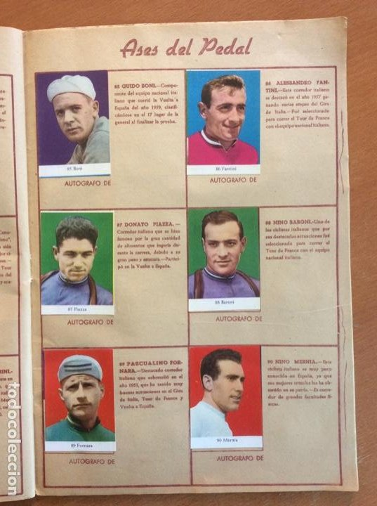 Coleccionismo deportivo: Álbum Ases del Pedal - Album Autógrafo - 1960 - leer descripción. - Foto 16 - 225754495