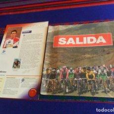 Coleccionismo deportivo: MUY RARO, SALIDA LLEGADA INCOMPLETO FALTAN 11 DE 70 CROMOS CICLISMO 1993 EQUIPOS ESPAÑOLES CICLISTAS. Lote 226593355