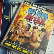 Coleccionismo deportivo: ALBUM WWE SLAM ATTAX TOPPS CON 152/172 (LEER DESCRIPCIÓN). Lote 227586690