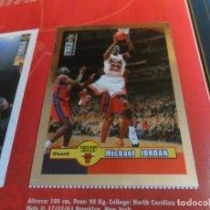 Coleccionismo deportivo: CON CROMO DE MICHAEL JORDAN 1996 1997 NBA BASKETBALL STICKER ALBUM INCOMPLETO. UPPER DECK. BE. RARO.. Lote 228562430