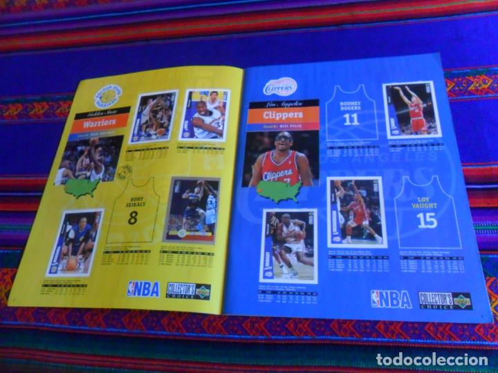 Coleccionismo deportivo: CON CROMO DE MICHAEL JORDAN 1996 1997 NBA BASKETBALL STICKER ALBUM INCOMPLETO. UPPER DECK. BE. RARO. - Foto 4 - 228562430