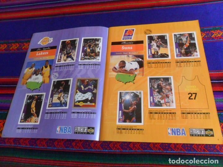 Coleccionismo deportivo: CON CROMO DE MICHAEL JORDAN 1996 1997 NBA BASKETBALL STICKER ALBUM INCOMPLETO. UPPER DECK. BE. RARO. - Foto 5 - 228562430