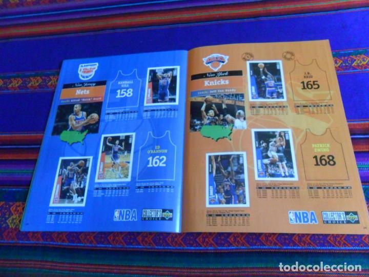 Coleccionismo deportivo: CON CROMO DE MICHAEL JORDAN 1996 1997 NBA BASKETBALL STICKER ALBUM INCOMPLETO. UPPER DECK. BE. RARO. - Foto 9 - 228562430