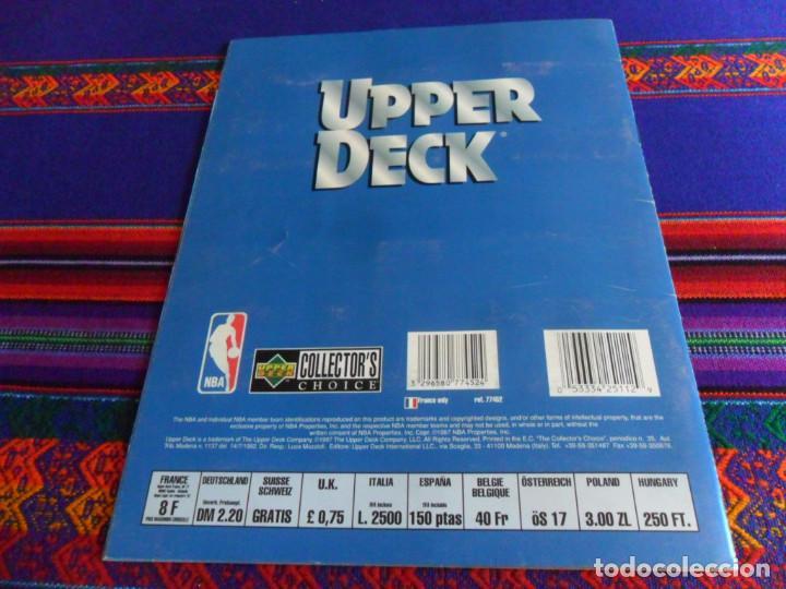 Coleccionismo deportivo: CON CROMO DE MICHAEL JORDAN 1996 1997 NBA BASKETBALL STICKER ALBUM INCOMPLETO. UPPER DECK. BE. RARO. - Foto 11 - 228562430