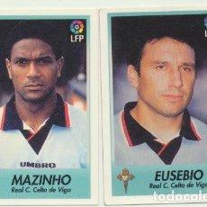 Coleccionismo deportivo: BOLLICAO. FUTBOL. LIGA 96-97. LOTE DE 2 CROMOS SIN USAR : 46 Y 48 DEL CELTA. Lote 232508310