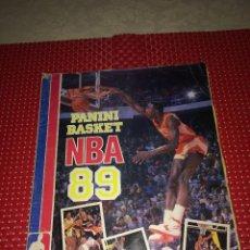 Collectionnisme sportif: ALBUM BASKET NBA 89 - PANINI - COMPLETO A FALTA DE UNO - AÑO 1989. Lote 233926080