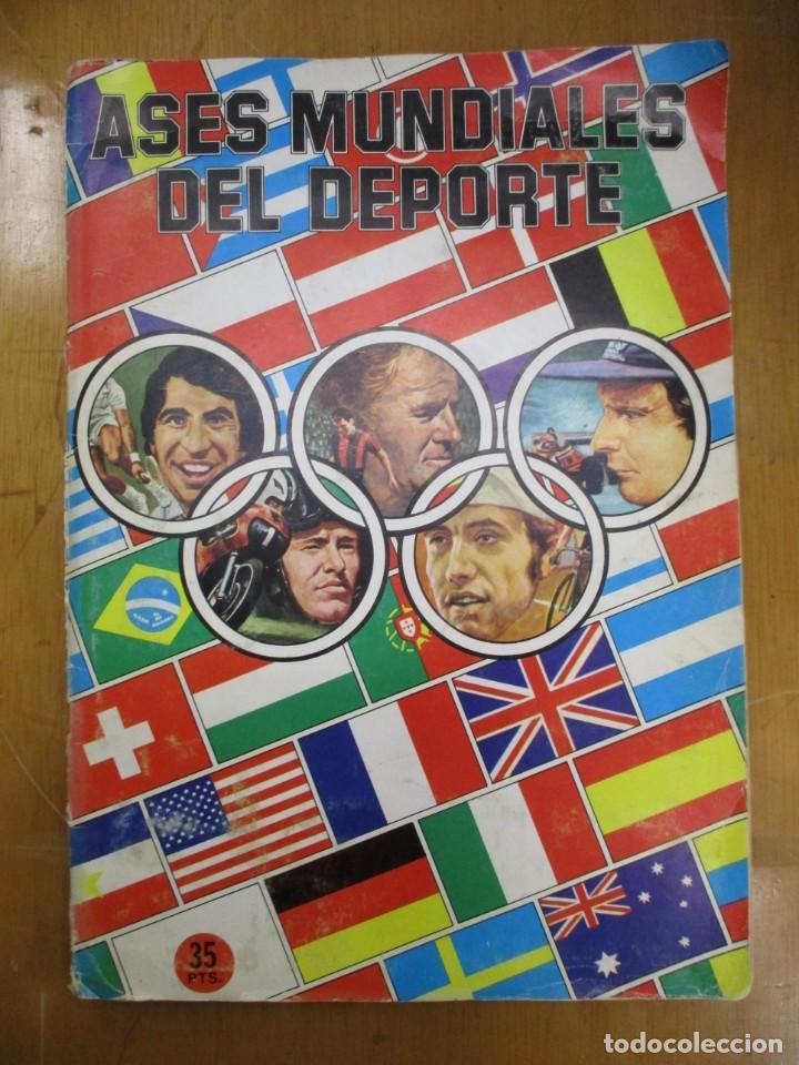ALBUM DE CROMOS ORIGINAL ASES DEL DEPORTE - QUELCOM - 1979 - SIN ESCRITOS / NI TACHADURAS (Coleccionismo Deportivo - Álbumes otros Deportes)