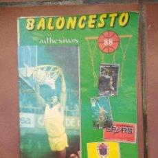 Coleccionismo deportivo: ALBUM BALONCESTO ADHESIVOS 88. Lote 234859685