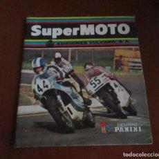Coleccionismo deportivo: CASI VACIO ALBUM CROMOS SUPER MOTO 1975 VULCANO PANINI SUPERMOTO. Lote 236085540