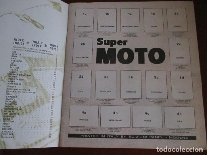 Coleccionismo deportivo: CASI VACIO ALBUM CROMOS SUPER MOTO 1975 VULCANO PANINI SUPERMOTO - Foto 2 - 236085540