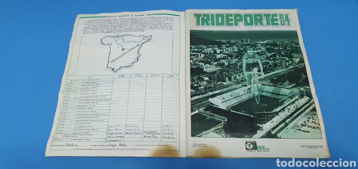 Coleccionismo deportivo: ÁLBUM TRIDEPORTE 84 - CICLISMO / FUTBOL / BALONCESTO - EDICIONES FHER - Foto 2 - 236118800