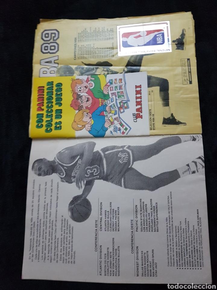 Coleccionismo deportivo: Album cromos Basket NBA 89 panini - Foto 2 - 268318514