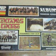 Coleccionismo deportivo: CONTAMOS CONTIGO, ALBUM 1968, SOLO LE FALTAN 2 CROMOS, POR SOLO 1 € SUBASTA. Lote 242861610