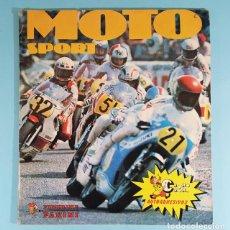 Coleccionismo deportivo: ALBUM DE CROMOS MOTO SPORT, FIGURINE PANINI, CROMO CROM 1980, COMPLETO, MOTOCICLISMO. Lote 243890915