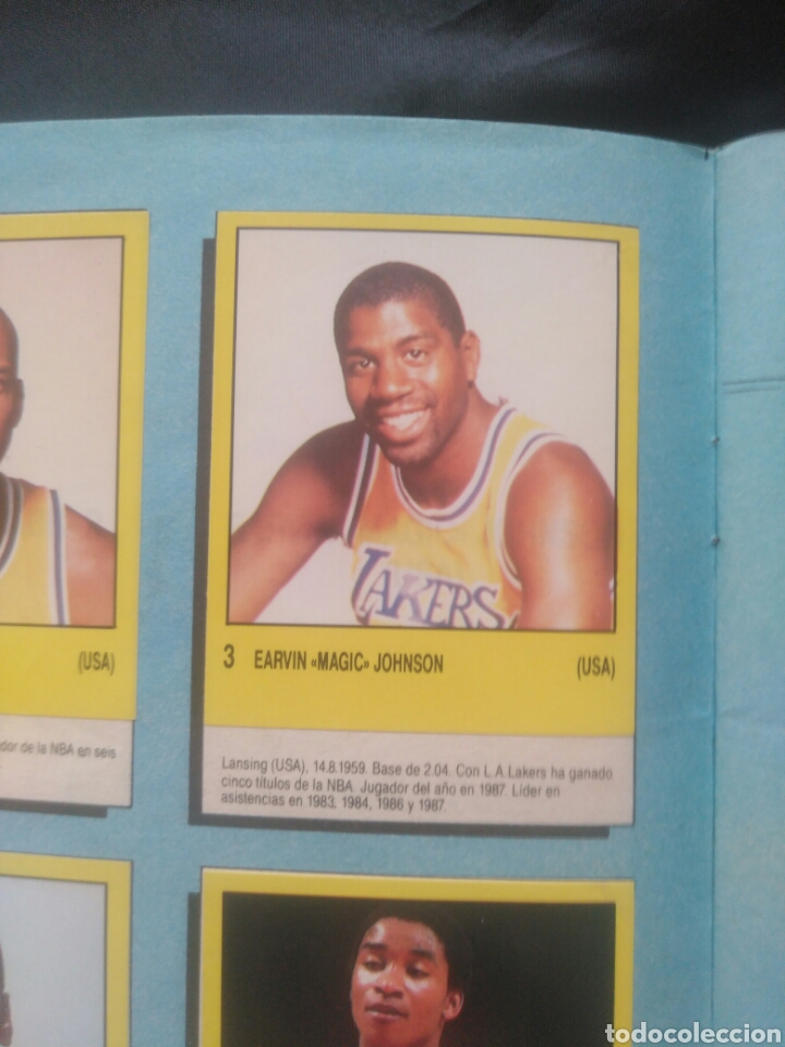Coleccionismo deportivo: Album Supersport de panini. Completo. Michael Jordan, Maradona, Magic Johnson, Carl Lewis etc... - Foto 5 - 247546755