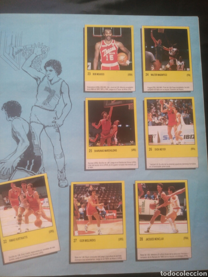 Coleccionismo deportivo: Album Supersport de panini. Completo. Michael Jordan, Maradona, Magic Johnson, Carl Lewis etc... - Foto 8 - 247546755
