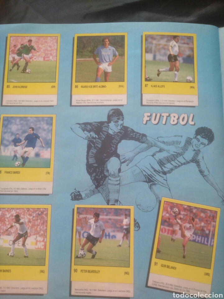 Coleccionismo deportivo: Album Supersport de panini. Completo. Michael Jordan, Maradona, Magic Johnson, Carl Lewis etc... - Foto 19 - 247546755