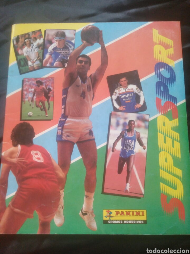 ALBUM SUPERSPORT DE PANINI. COMPLETO. MICHAEL JORDAN, MARADONA, MAGIC JOHNSON, CARL LEWIS ETC... (Coleccionismo Deportivo - Álbumes otros Deportes)