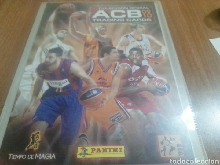 ÀLBUM LIGA ACB 2009-2010 TRADING CARDS CON 193 FICHAS PANINI ORIGINAL (Coleccionismo Deportivo - Álbumes otros Deportes)