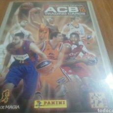 Coleccionismo deportivo: ÀLBUM LIGA ACB 2009-2010 TRADING CARDS CON 193 FICHAS PANINI ORIGINAL. Lote 251253475