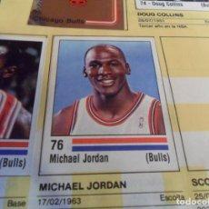 Coleccionismo deportivo: CON 3 CROMO STICKER DE MICHAEL JORDAN PANINI BASKET NBA 89 INCOMPLETO. REGALO BASKET 88 89. DIFÍCIL.. Lote 252449025
